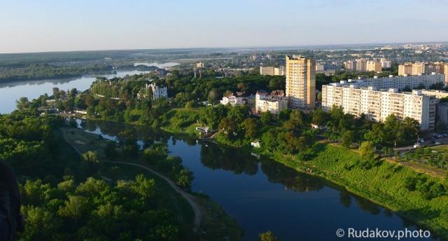 Вид на Тамбовское море и южную часть города