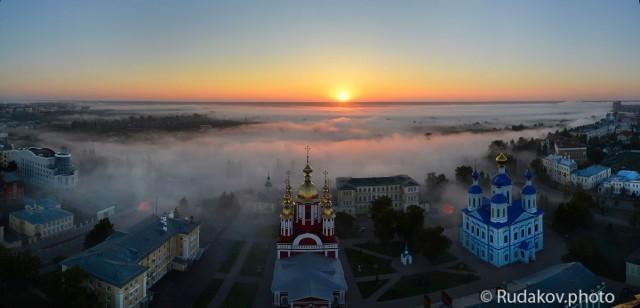Рождение дня. Казанский Богородичный монастырь на рассвете