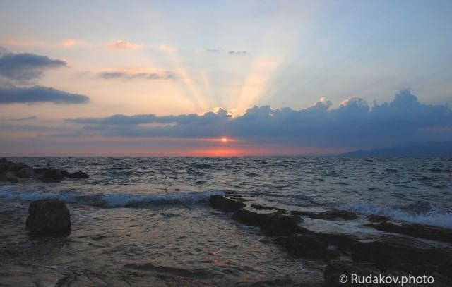 Эгейское море вечером