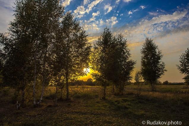 Теплый закат в Горелом