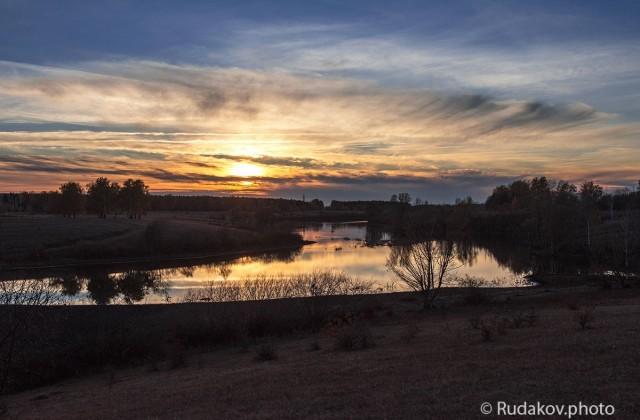 Закат над Текинским прудом