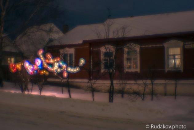 """Вечер накануне Рождества (из проекта """"Прогулки по вечернему Тамбову"""") (монокль)"""