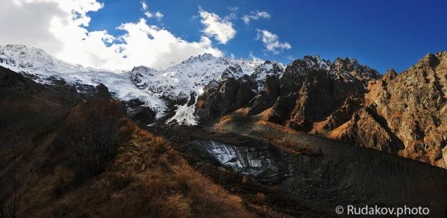 Северная Осетия. Сказский ледник