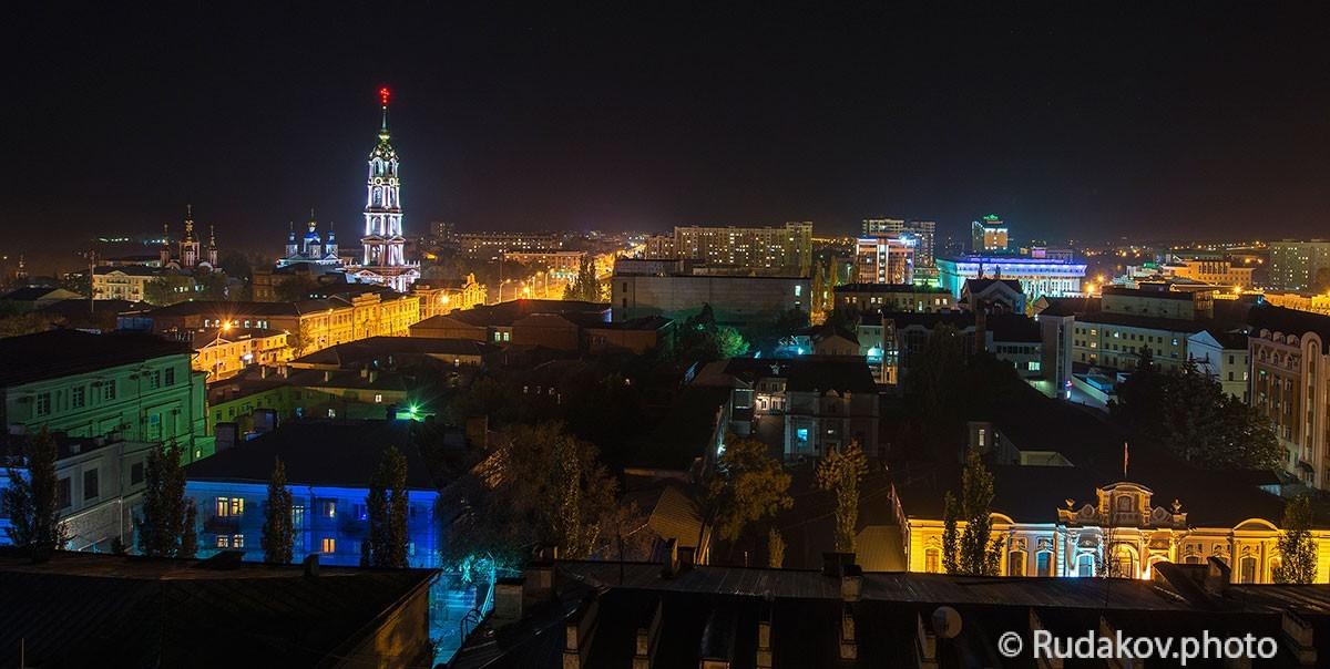 Панорама ночного Тамбова