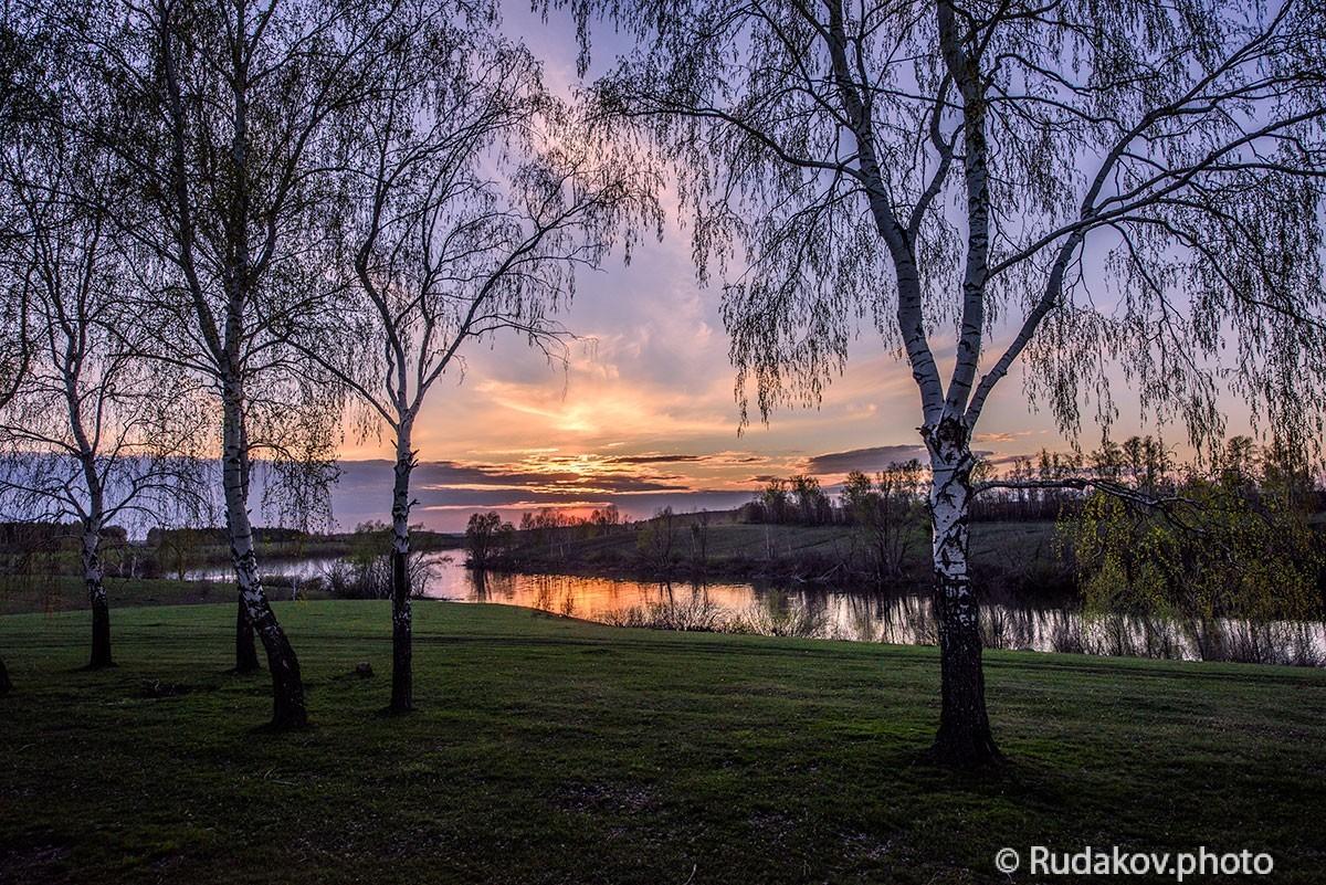 Вечер на Текинском пруду