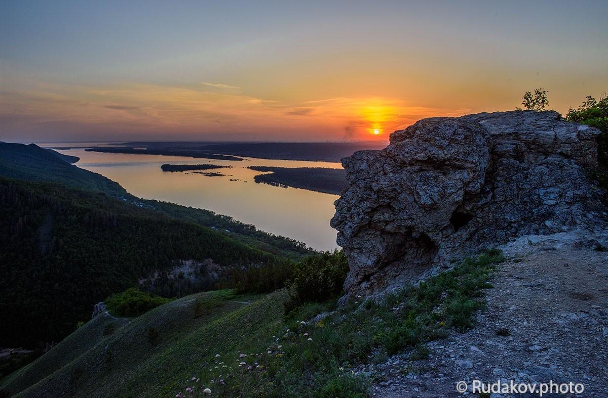 """Есть на Волге утес. ( Стрельная гора. Национальный парк """"Самарская Лука"""")"""