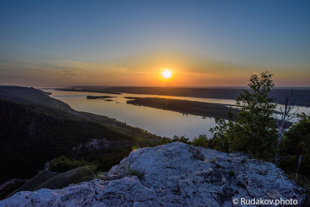 """Вид на Волгу со Срельной горы. (Национальный парк """"Самарская Лука"""")"""