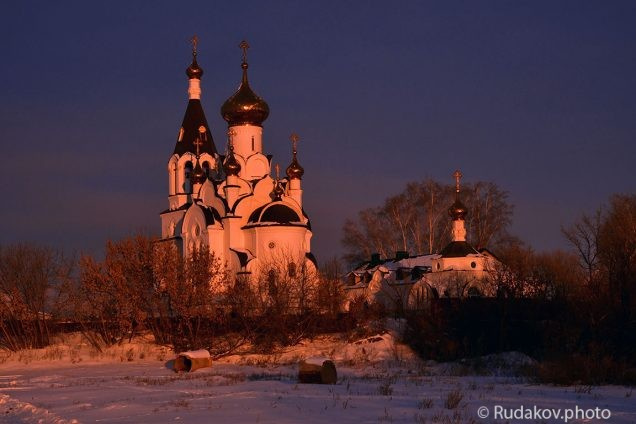 Никольская церковь на рассвете. с Бокино
