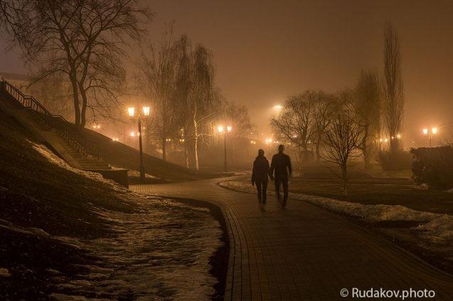 Вечер, туман, двое