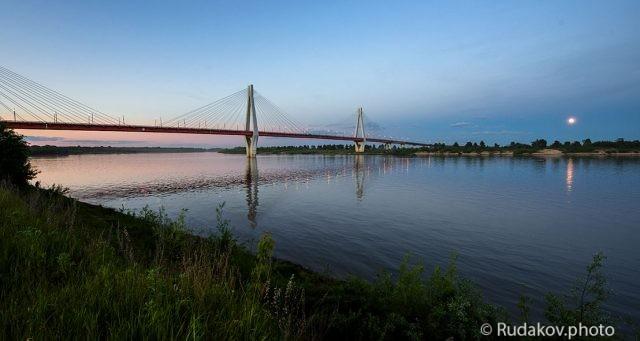 Муром. Вантовый мост через Оку.
