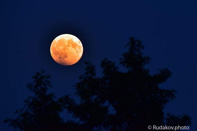 В ночь лунного затмения