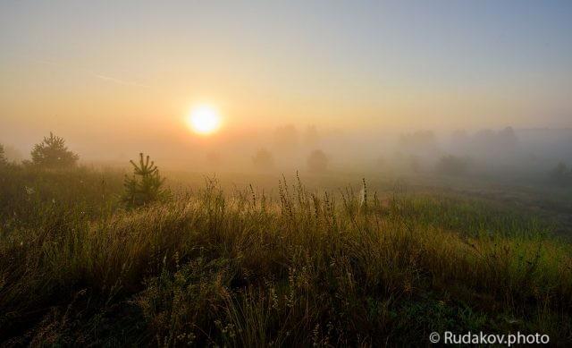 Рассвет с туманом