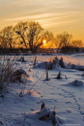 Зимний вечер в Заречье