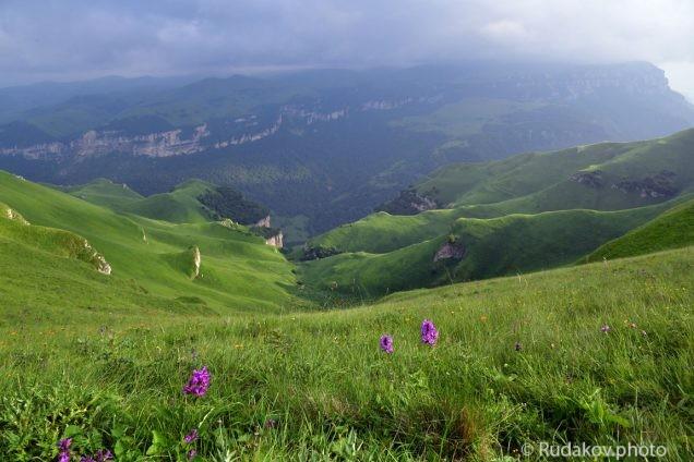 По дороге на плато Канжол