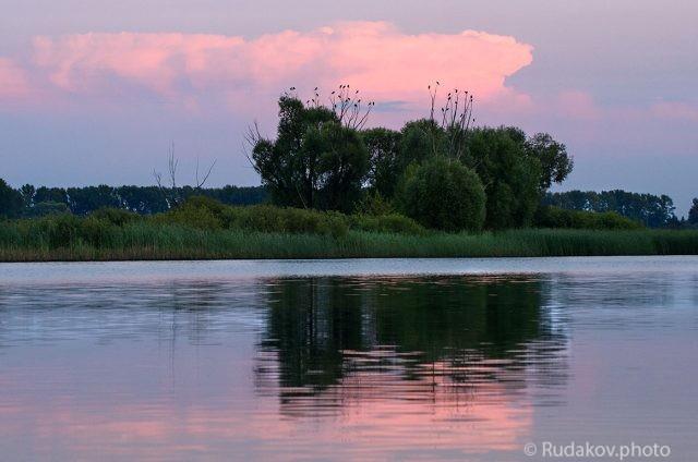 Вечер на Шушпанском водохранилище