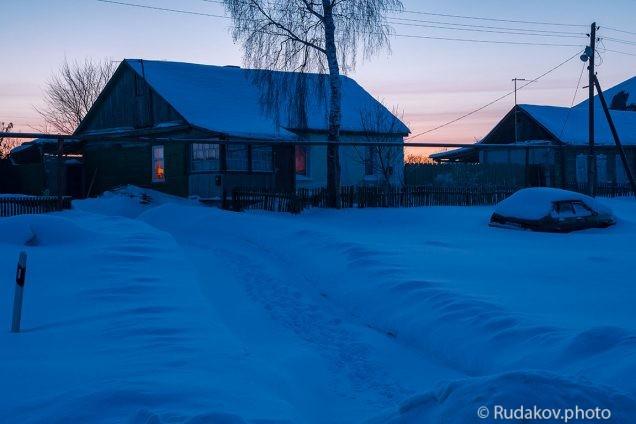 Вечер в деревне
