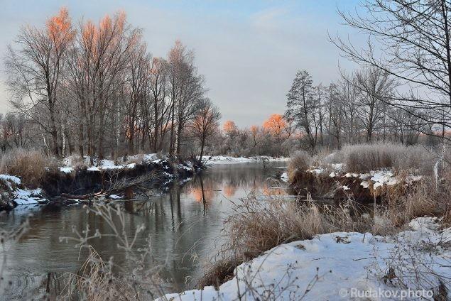 Розовая заря. Река Лесной Тамбов