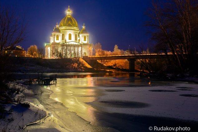 Свет в ночи (Троицкий храм, г. Моршанск)