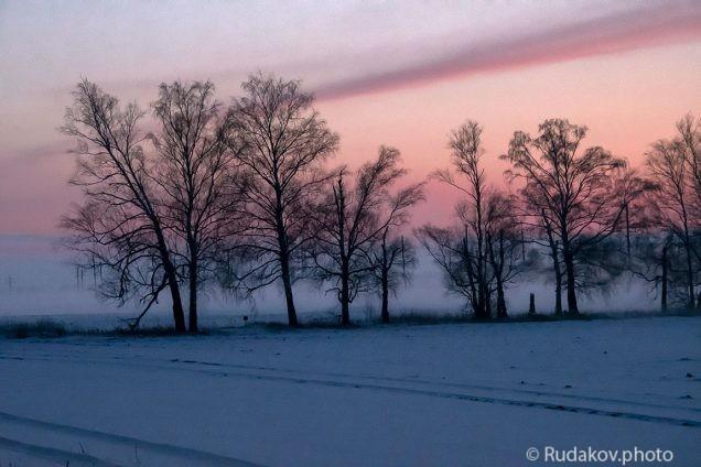 Туман над снегом